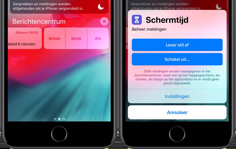 Stille meldingen iOS