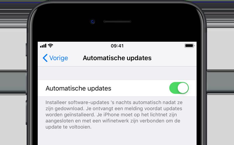 Automatische update iOS 12