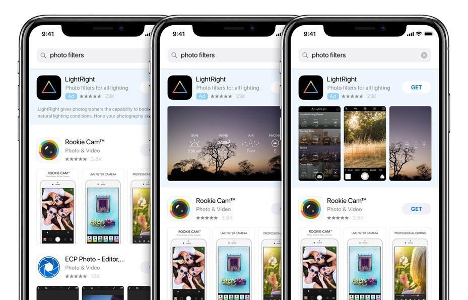 App Store reclames