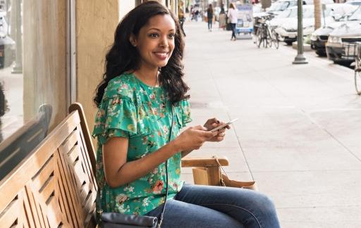 Vrouw met iPhone