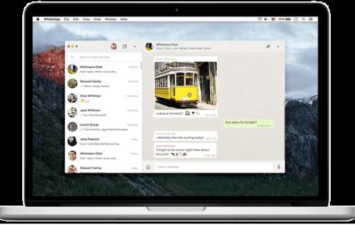 WhatsApp op een Mac.