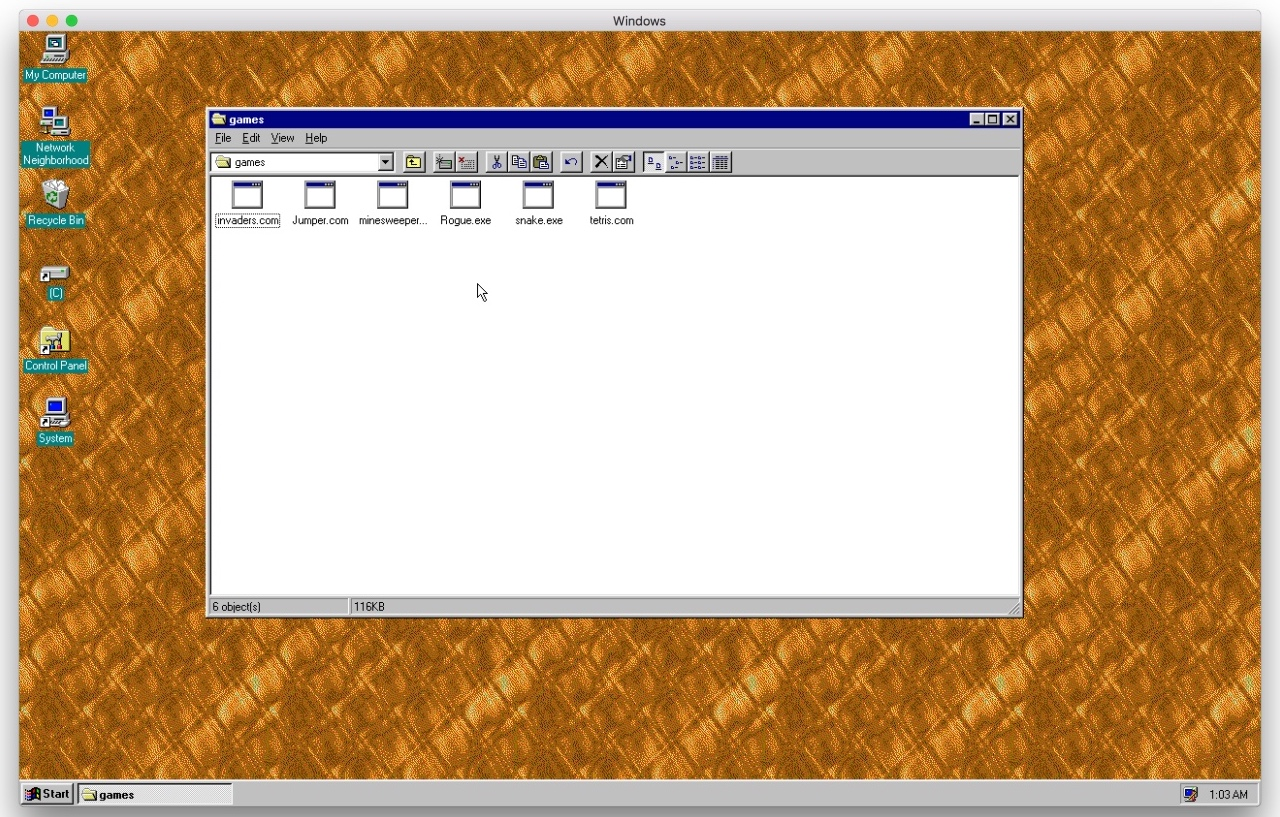 Windows 95 app