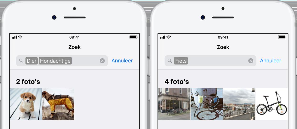 Zoeken in Foto's-app
