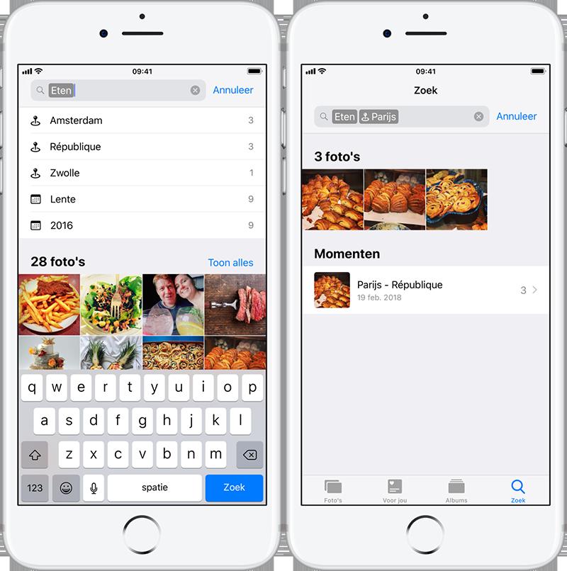 Zoeken in Foto's-app van iOS 12