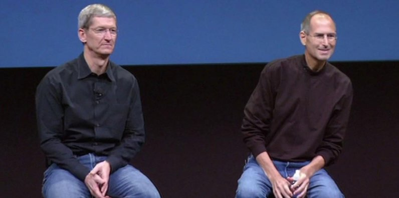 Tim Cook en Steve Jobs
