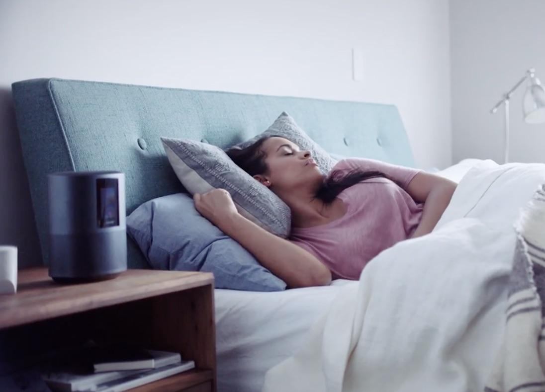 Bose Speaker 500 in bed.