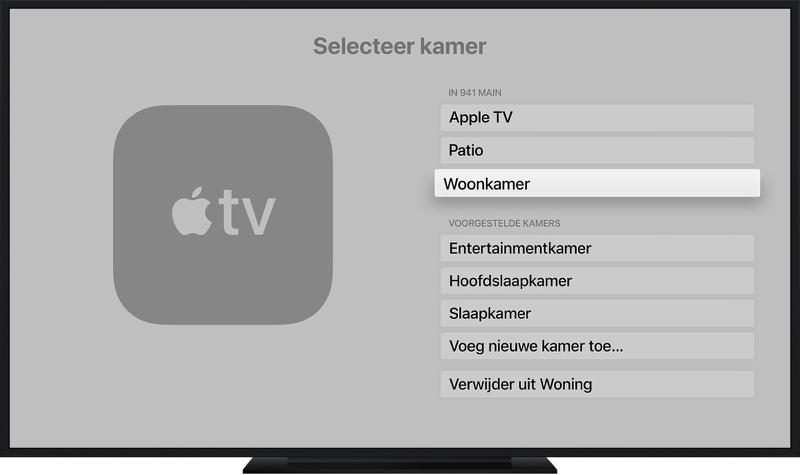 Apple TV toevoegen aan de Woning-app.