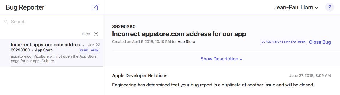 Bug Reporter item