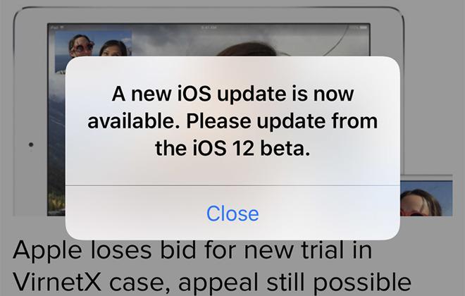 iOS 12 bug melding