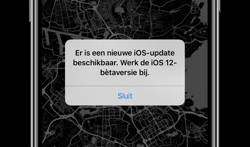 iOS 12 bug melding updaten
