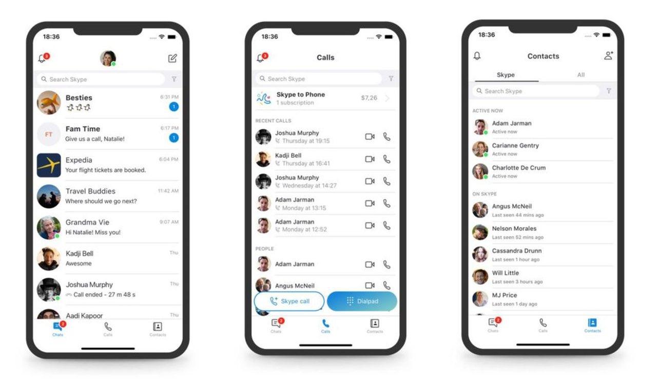 Skype-update september 2018