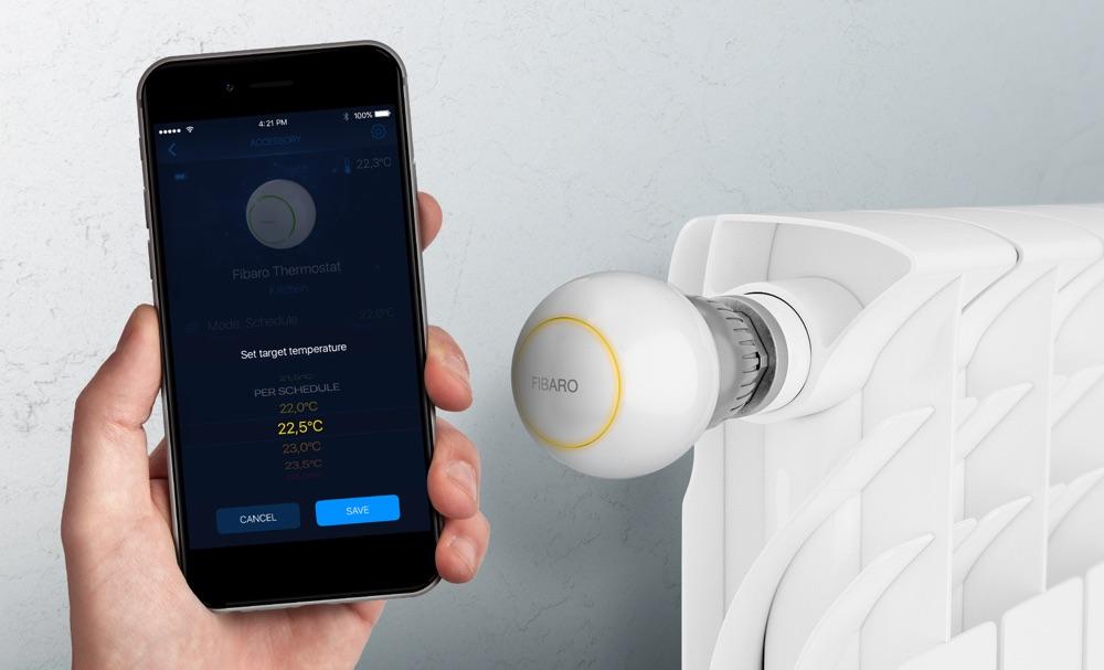 Fibaro Heat Controller met app.