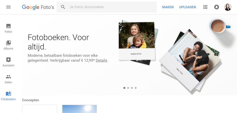 Google Fotoboek