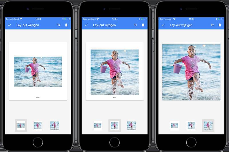 Google Fotoboeken: 3 layouts