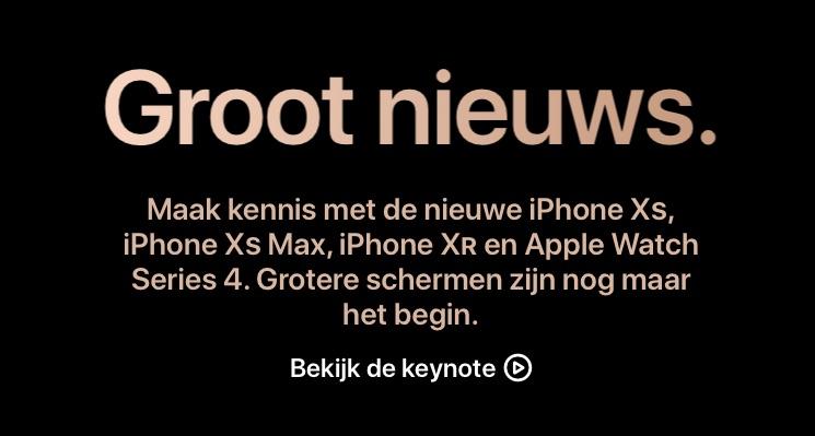 Apple-site groot nieuws.