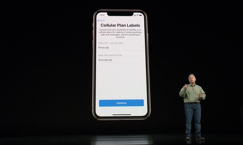 iPhone XS dualsim instellen.