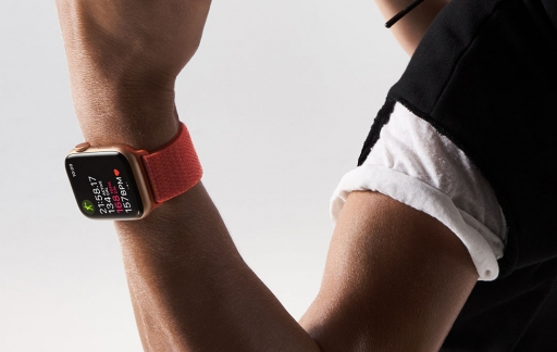 Infograaf Modulair-wijzerplaat op de Apple Watch Series 4
