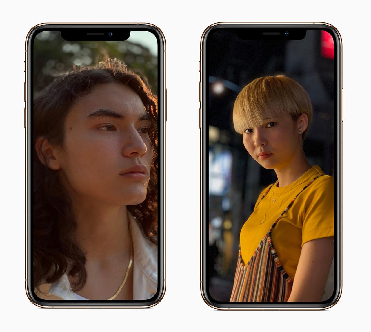 iPhone XS diepte-effect