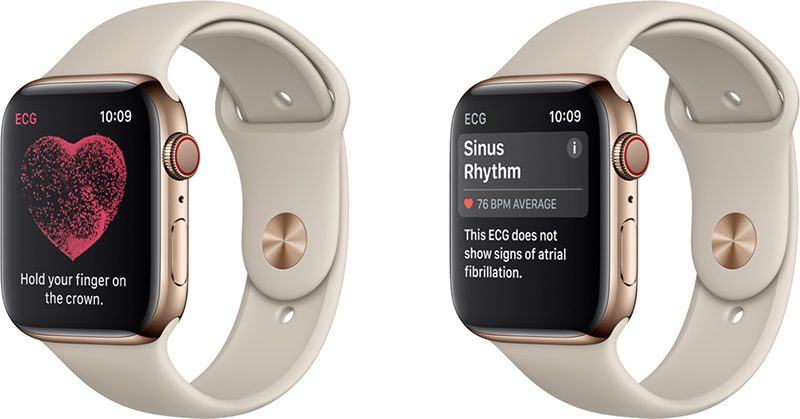 Apple Watch Series 4 goud hartslagfuncties