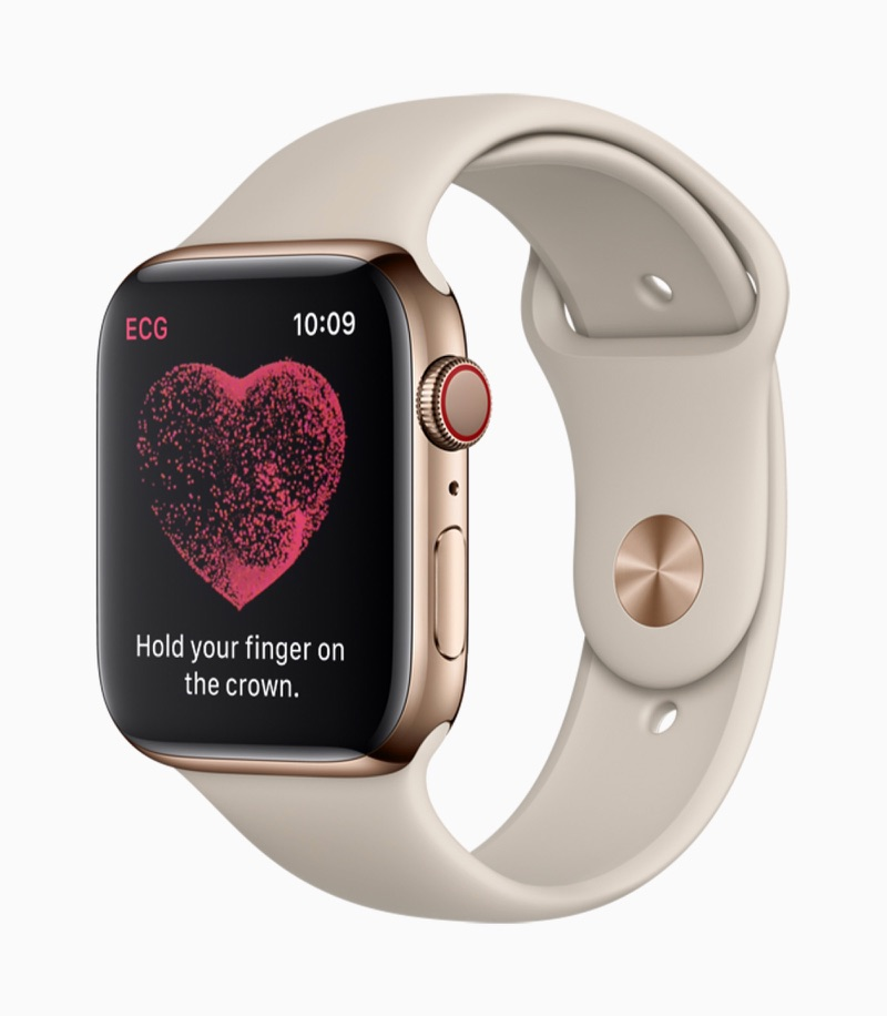 ECG maken met Apple Watch Series 4.