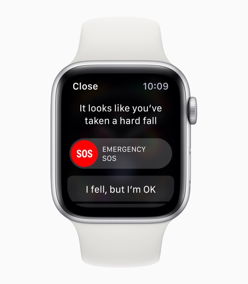 Apple Watch Series 4 met valdetectie.