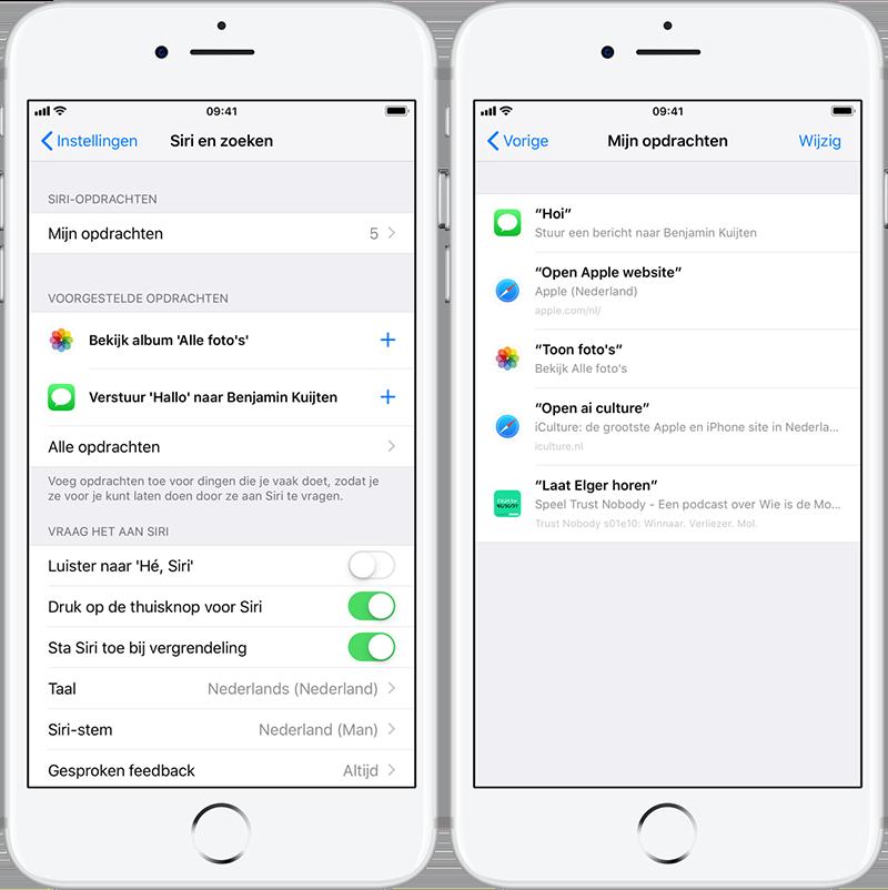 Siri Shortcuts: opdrachten maken