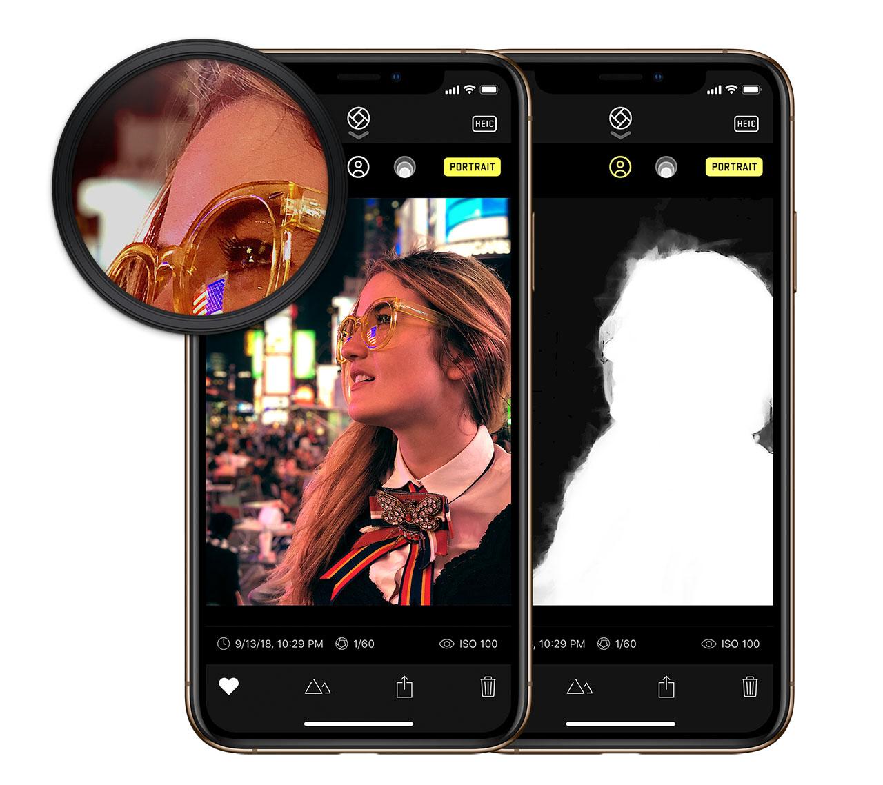 Halide portretmodus iOS 12