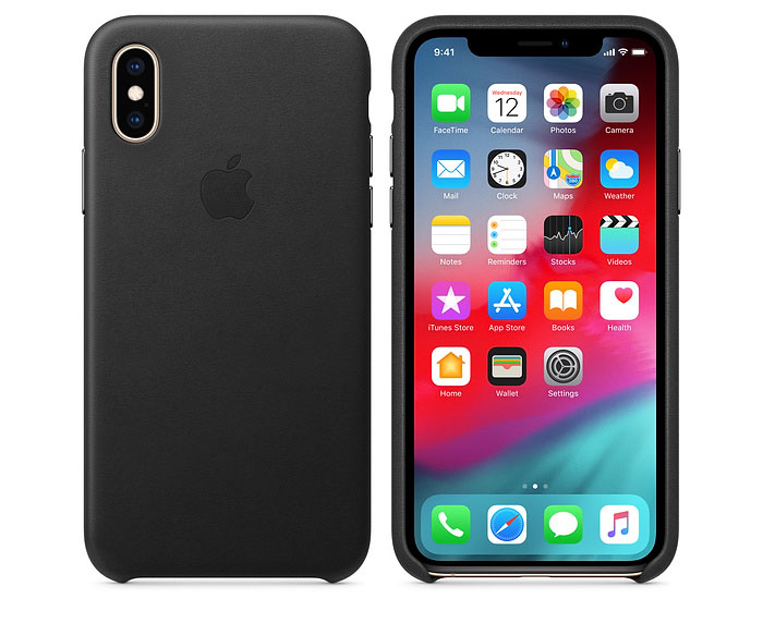 Apple iPhone XS leren hoesje