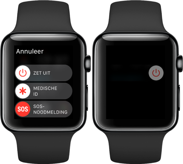 Apple Watch herstarten.