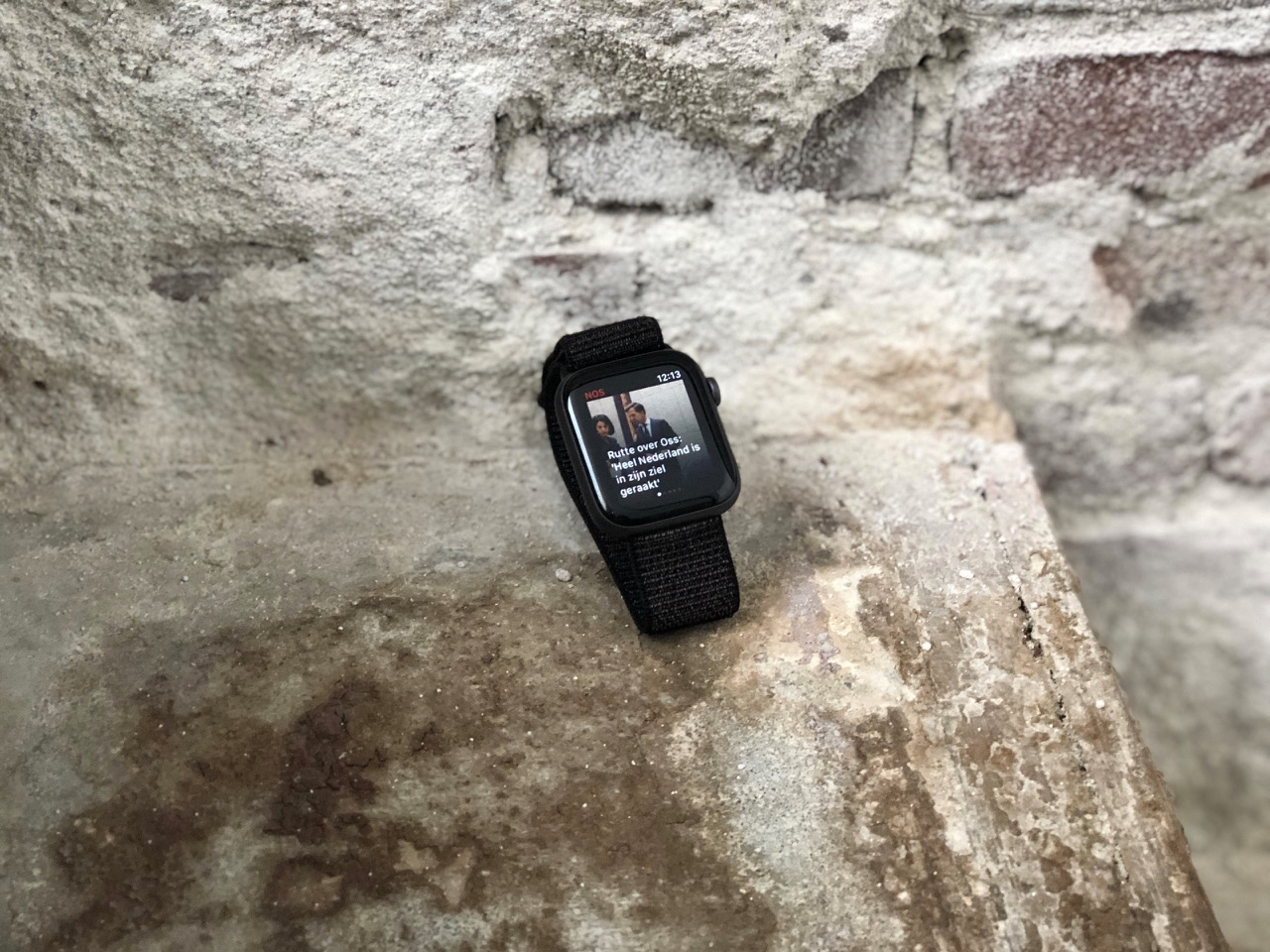 Apple Watch Series 4 met onaangepaste app.