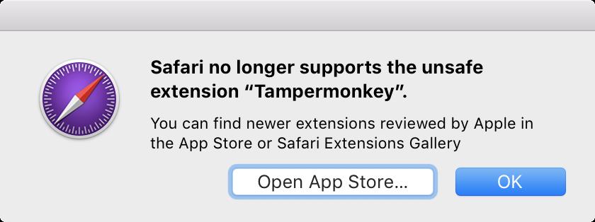 Safari extensies onveilig