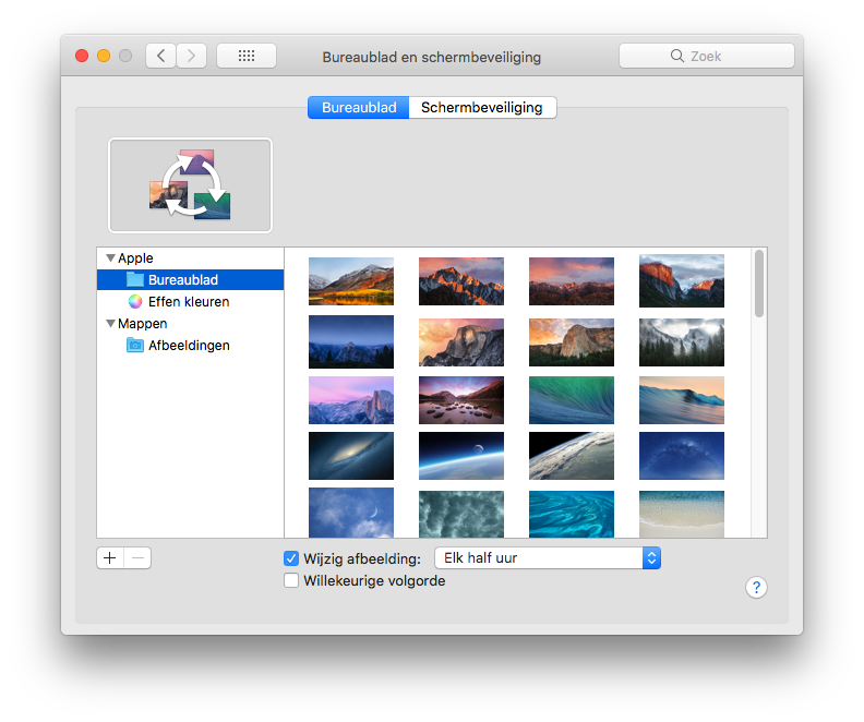 Wisselende wallpaper instellen Mac