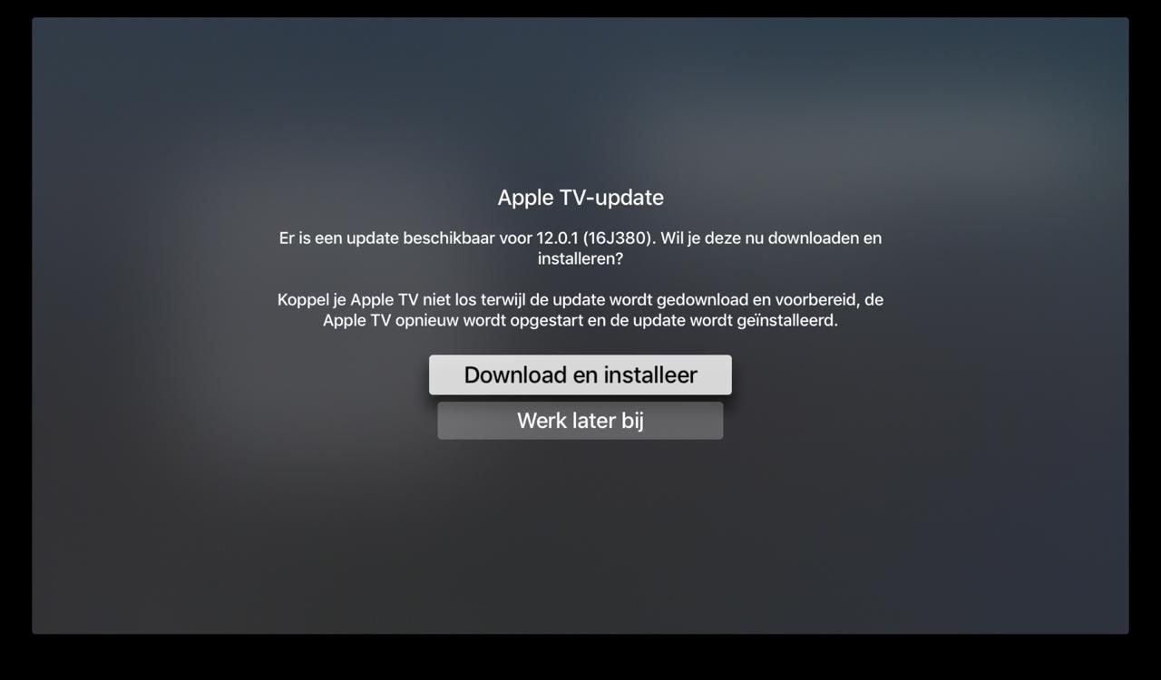 Apple TV: tvOS 12.0.1 update