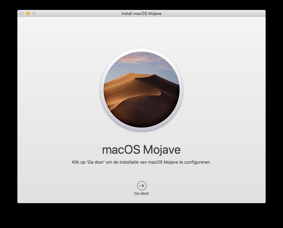 macOS Mojave installeren.