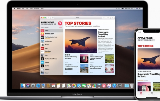Apple News-app op de iPhone en Mac.