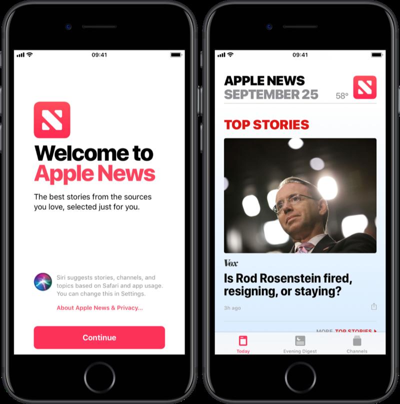 Apple News op de iPhone gebruiken.