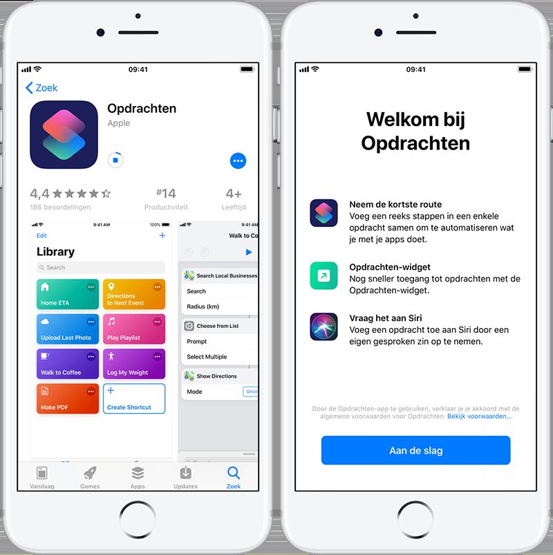 Siri Opdrachten-app