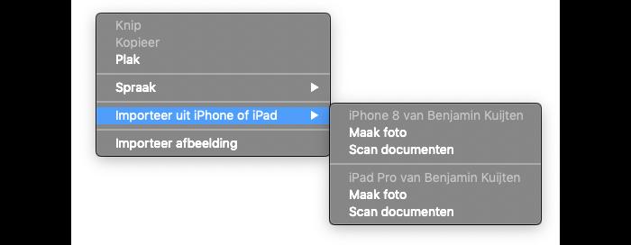 Continuiteitscamera: iPhone-foto sturen naar Mac