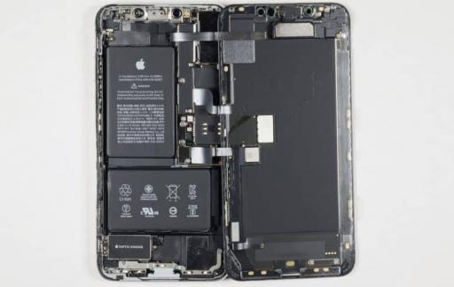 iPhone XS Max materiaalkosten