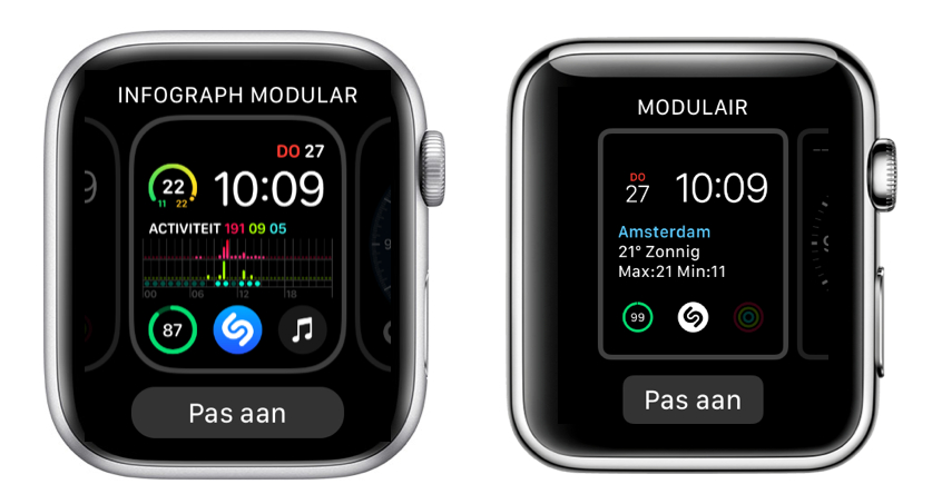 Apple Watch Series 4 vs Series 0 met wijzerplaat aanpassen.