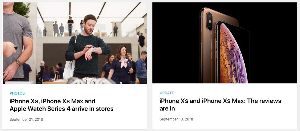 iPhone XS naamgeving