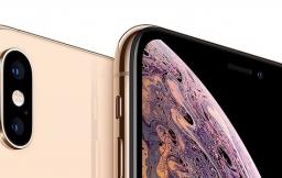 iPhone XS Max in het goud.