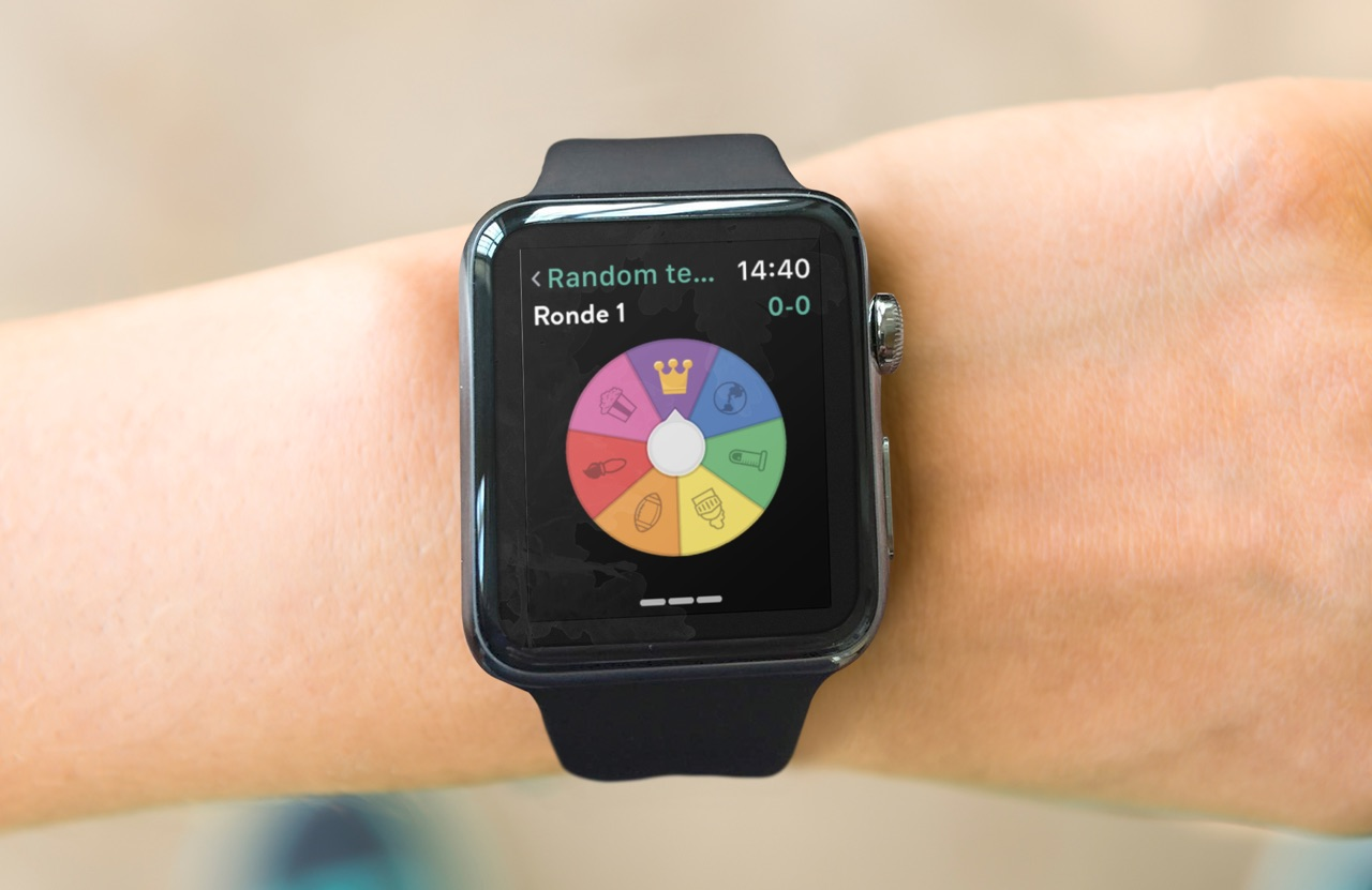 Trivia Crack op Apple Watch.