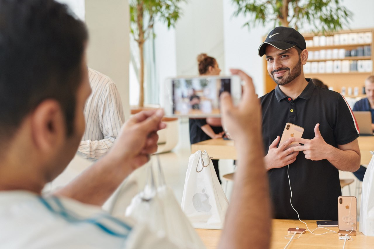 iPhone XS launch in Apple Store 2018, foto maken