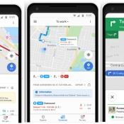 Google Maps in realtime bus en trein locatie.