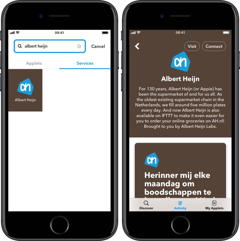 AH-app koppelen IFTTT