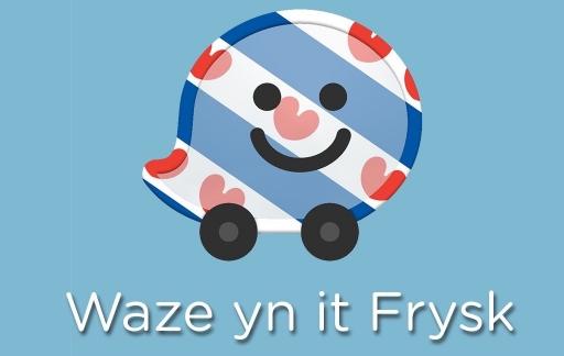Waze-navigatie in het Fries.