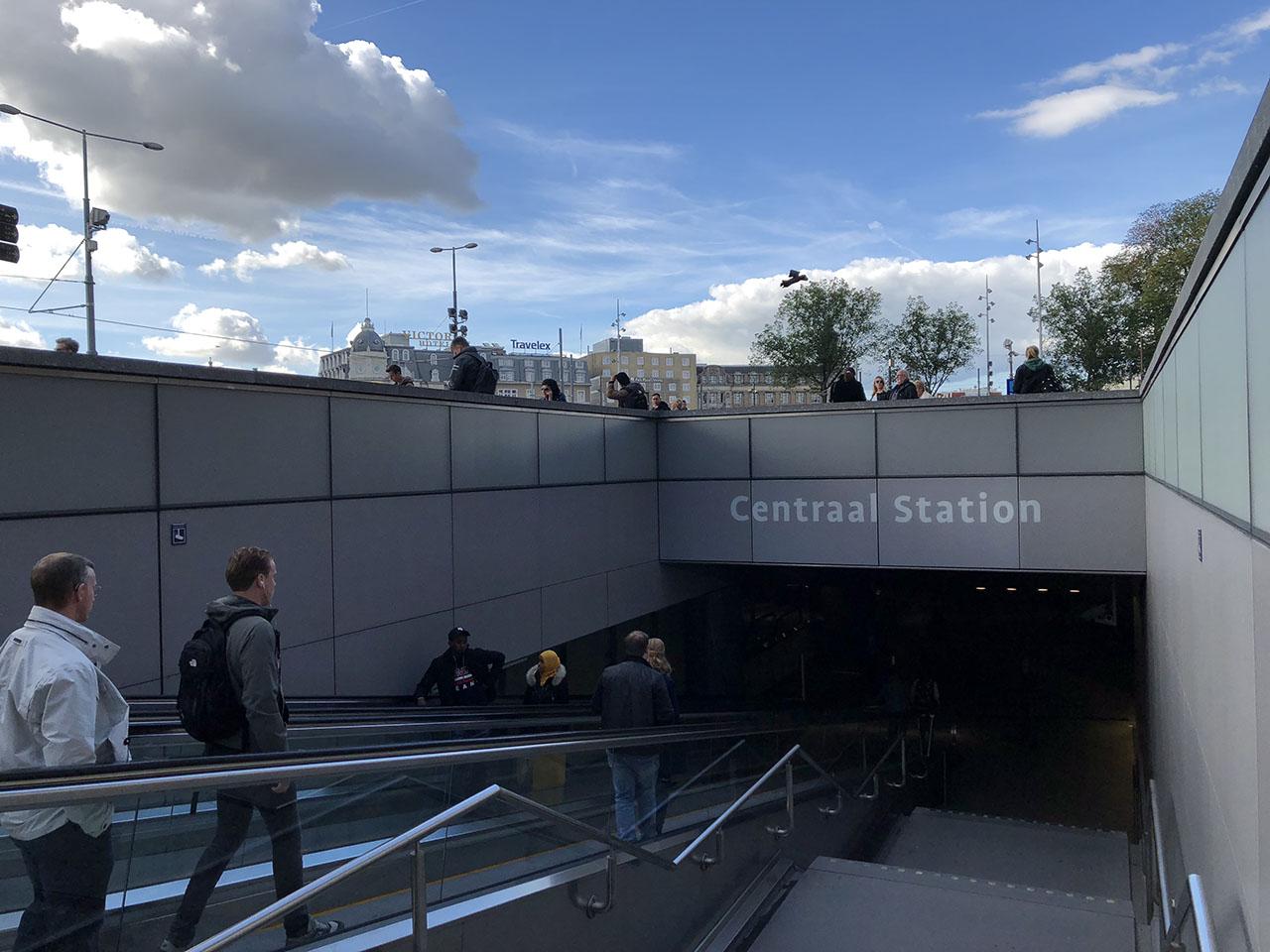 Centraal Station, foto gemaakt met iPhone 8 Plus