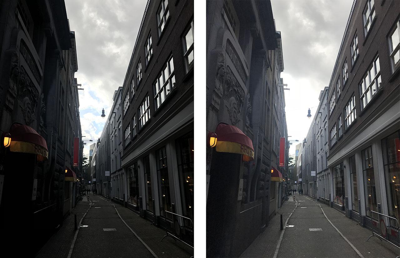 Straatje, foto gemaakt met iPhone 7