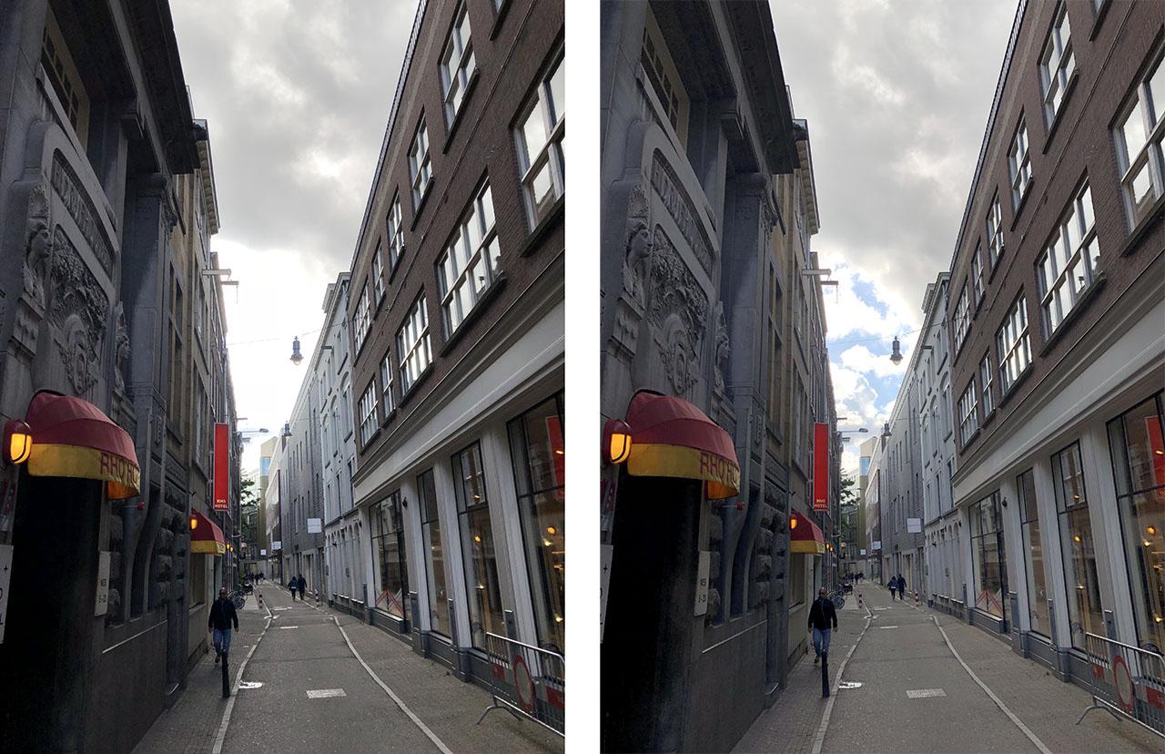 Straatje, foto gemaakt met iPhone 8 Plus